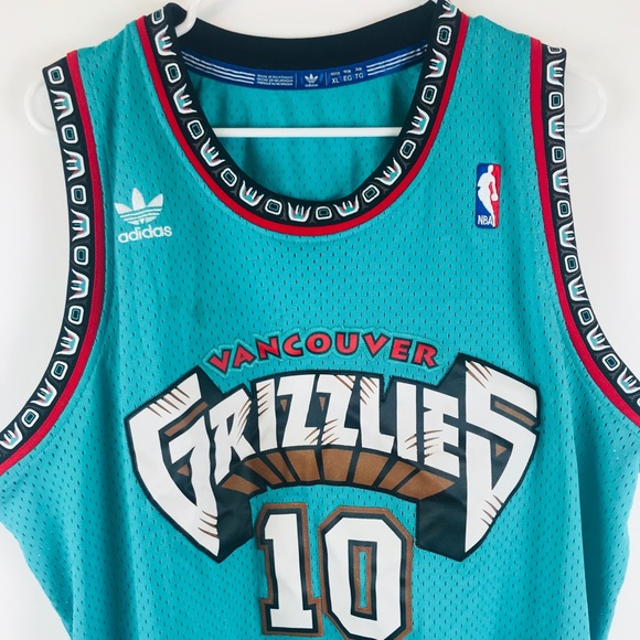 more photos 9af7a d50ed Vancouver Grizzlies Mike Bibby Throwback Jersey XL